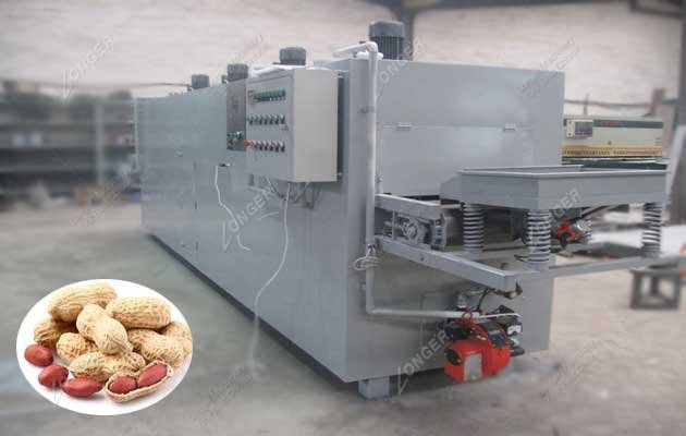 Belt Type Peanut Roasting Machine