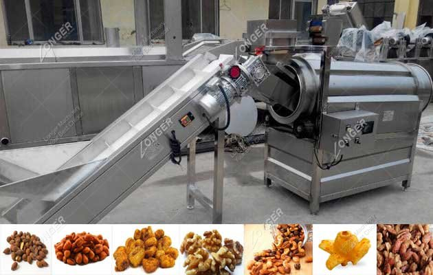 Drum Cashew Nuts Seasoning Machine