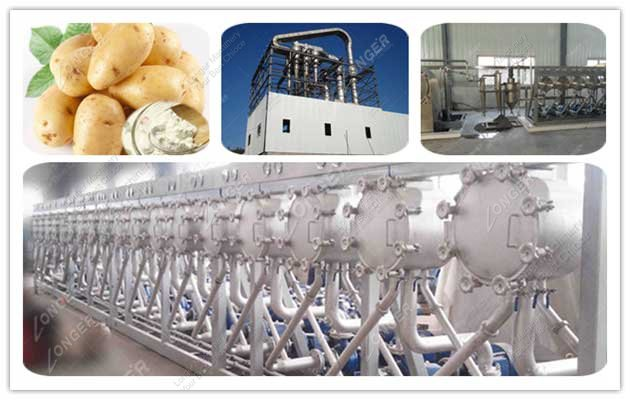 Auto Potato Starch Processing Line 1000kg/h