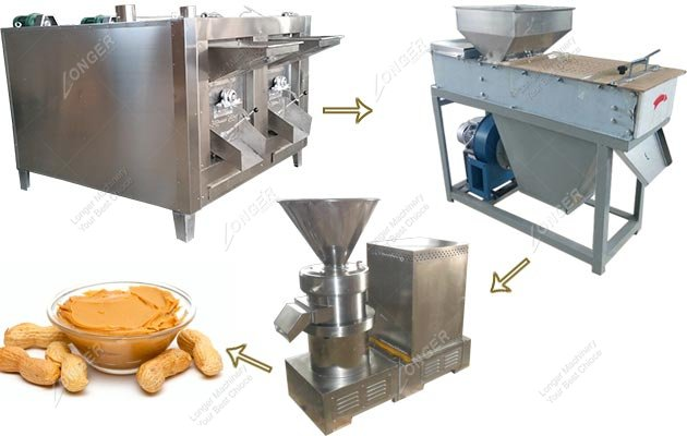 Small Type Peanut Paste Production Line for Commercial