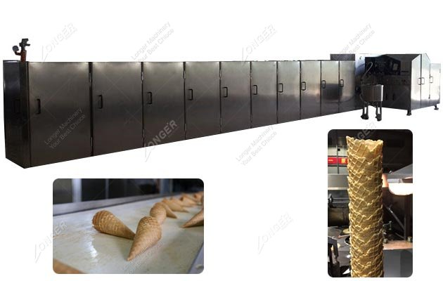 Full Automatic Crisp Waffle Cone Production Line Model B