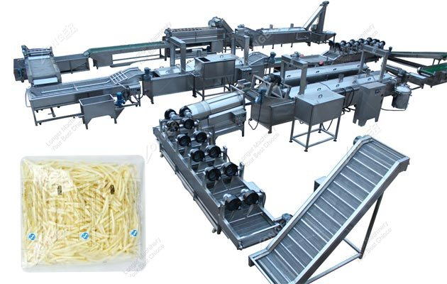Automatic Production Line for Making French Fries