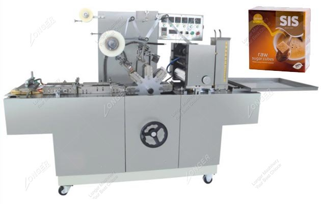 Sugar Cubes Cellophane 3D Packing Machine With Transparent Film