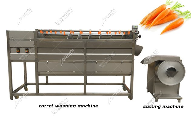 Carrot Washing Machine By Brush