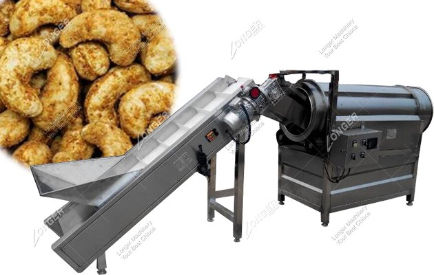Automatic Single Drum Nut And Tea Flavoring Machine