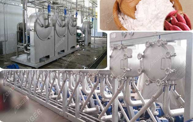 High Commercial Value Sweet Potato Starch Processing Line 2000kg/h