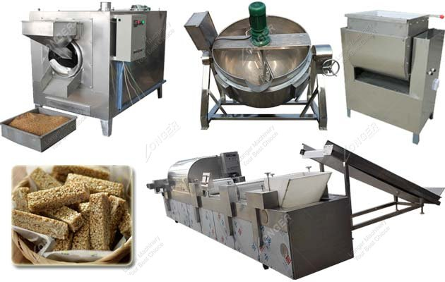 Automatic Sesame Candy Bar Production Machine|Sesame Brittle Making Machine