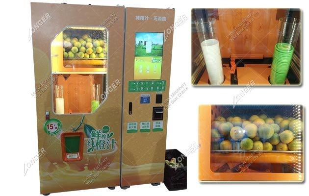 Automated Squeezed Fresh Orange Juice Vending Machine Manufacturer