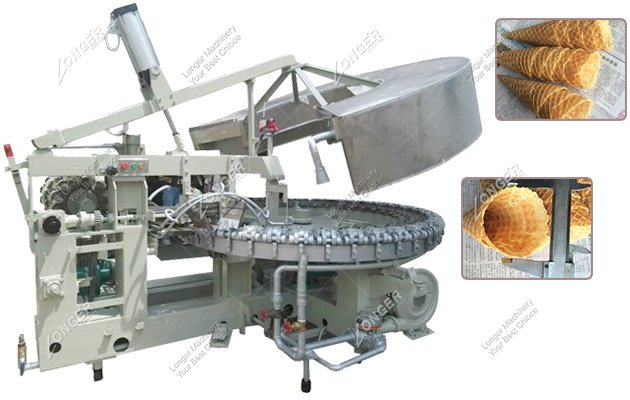 Industrial Rolled Sugar Cone Baking Rolling Machine