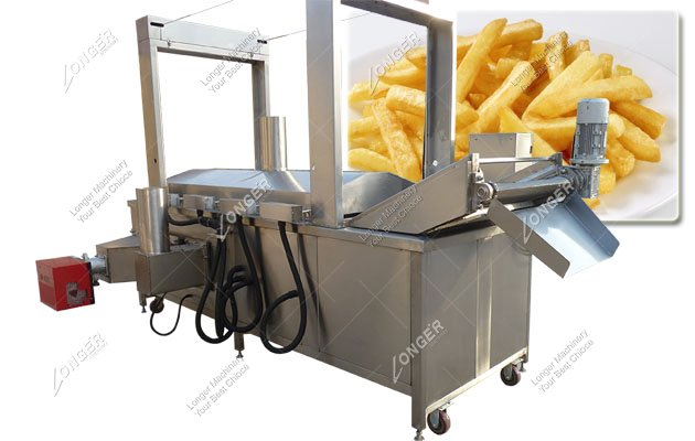 Continuous French Fries Fryer Machine