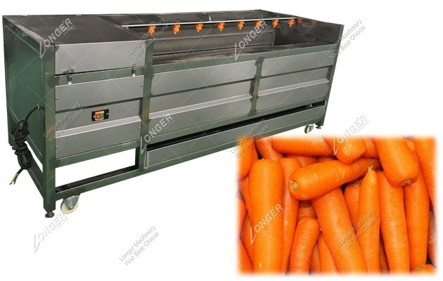 Brush Carrot Washing And Cleaning Machine For Sale